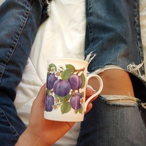 Other - Vintage Botanical Plum Fruit Mug